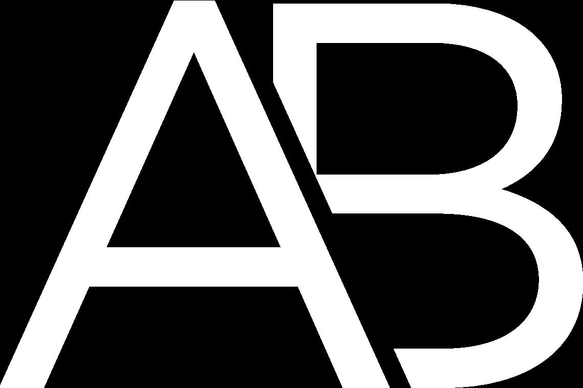 Aaron Bouren Logo Monogram (White)