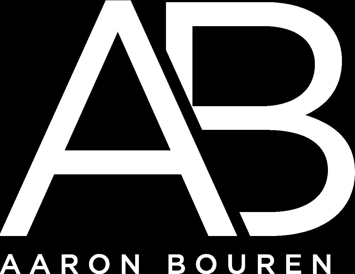 Aaron Bouren Logo (White)